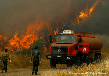 Incendi boschivi in Grecia e in altri paesi europei